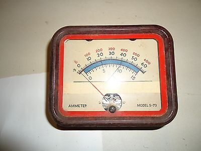AMMETER Model S-73, SUN MFG, CHICAGO ILL, USA, HAM Radio gear