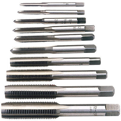 Draper 10 Piece UNF Hand Tap Set Thread Cutting & Cleaning Various Sizes 79199