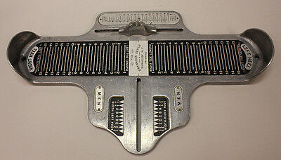 The Brannock Device, Shoe Sizer, Vintage Wall Hanger