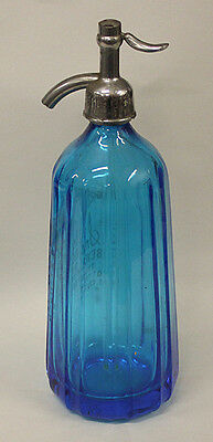 Smith Beverages Blue Seltzer Bottle, Port Angeles, Washington