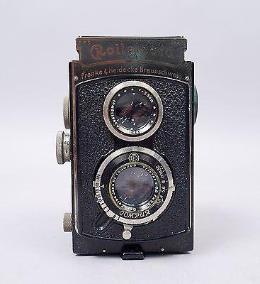 Vintage 1930s German Rolleicord 6x6cm TLR Camera f3.8 W Leather Carrying Case