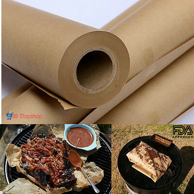 Brown Butcher Paper Roll 175Ft Food Grade Non Waxed Smoked Meat Cooking Wrapping