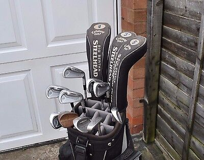 Set of Mizuno Callaway Nike Skymax Golf Clubs Set Irons Woods Putter in Bag RH