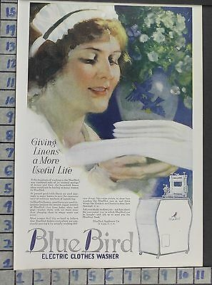 1920 Blue Bird Electric Washer Appliance Laundry Wash Home Decor Art Ad  Bv65