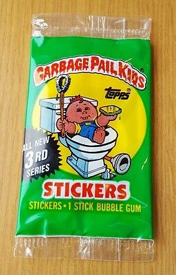 Garbage Pail Kids UK Series 3 (1987) ULTRA RARE Green Potty Scotty Sealed Pack