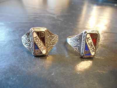 Hoover Al Smith Campaign Rings Matched Pair Presidential Herbert Political 1928