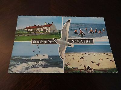 Postcard Greetings From Scratby 1973 Norfolk