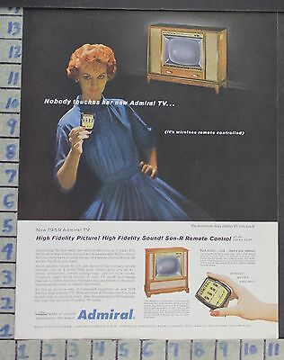 1958 Admiral Rutherford Tv Television Wireless Remote Control Vintage Ad  Cm66
