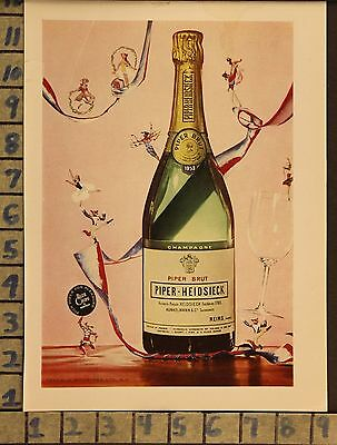 1959 Piper Heidsieck Bruit Champagne Dance Alcohol Drink Vintage Art Ad  Zc50