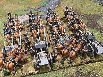 28Mm Painted Front Rank Napoleonic British Royal Horse Artillery Limbers