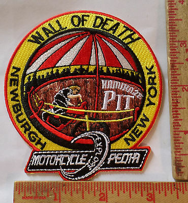 Vintage Wall of Death patch old motorcycle collectible biker vest memorabilia