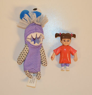 """RARE 2002 Boo & Monster Disguise 5"""" Action Figure McDonald's Europe Monsters Inc"""