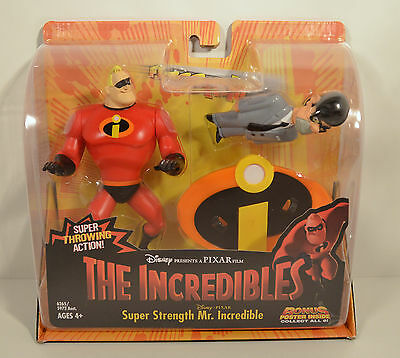 NEW 2003 Mr Incredible & Gilbert Humph Hasbro Action Figure Disney Incredibles