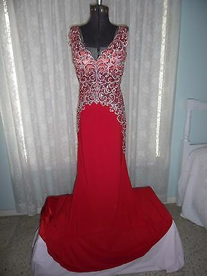 Jovani Red Evening Gown Size 2~Elegant And Beautiful