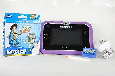 Vtech Innotab 3S Blue White Case Childs Learning Tablet Software Toy Story Game