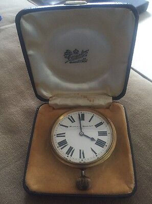 Victorian Mappin And Webb Travel Clock, Working