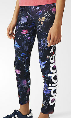 Size 11-12 Years - Adidas Originals Trefoil Logo Leggings Limited Edition Floral