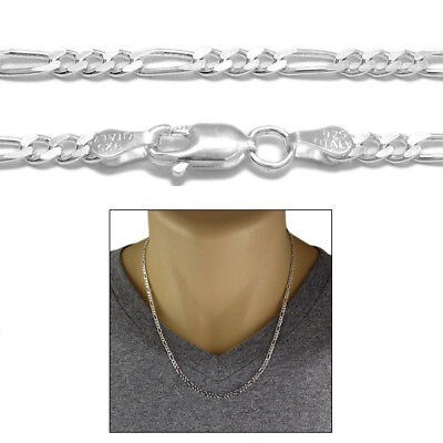 """CLOSEOUT! Sterling Silver FIGARO LINK chain necklace 3mm 080 - 20"""""""