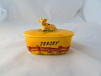 Butter Dish With Cow On Lid
