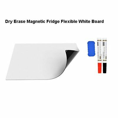 "17"" x 12"" Dry Erase Magnetic Refrigerator Flexible White Board Message New US"