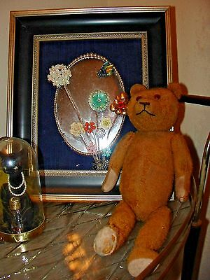 Antique Vintage Schuco Petz Germany Teddy Mohair Straw Bear Jointed 14""
