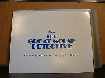 Disney Store Lithograph: THE GREAT MOUSE DETECTIVE 1999 w/Mat & Envelope