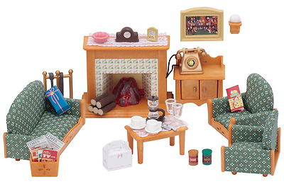 Sylvanian Families Deluxe Living Room Set Role-Play Game Toys Kids Complete Set