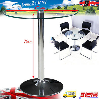 New High Gloss Round Glass Side End Lamp Table Occasional Leisure Coffee Table