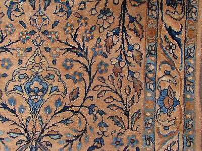 Antique Traditional Hand Made Persian Wool Faded Pink Oriental Runner 333x90cm