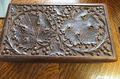 Victorian Anglo Indian carved box.