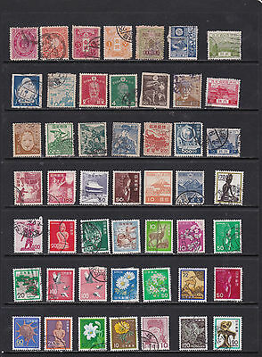 Japan - Neat Definitve Stamp Selection (Ja22042)