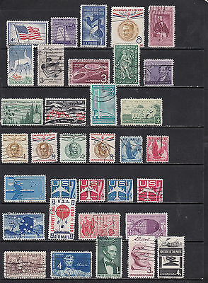 USA - Interesting Run of Pictorial Stamps  2 SCANS (USA22043)