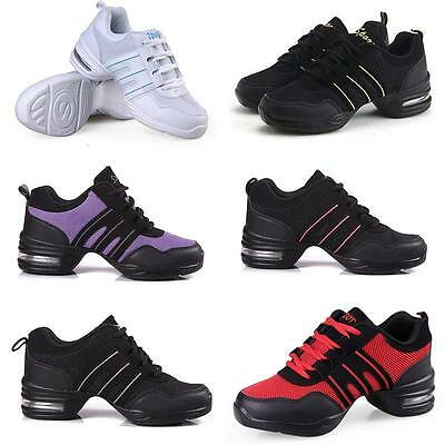 Hot Women Trendy Athletic Sneakers Comfy Jazz Hip Hop Dance Shoes Running USPE