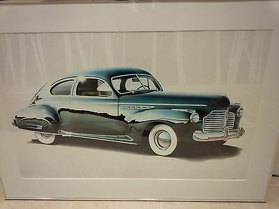 1941 Buick Fastback coupe ( series 60 ?) - framed print