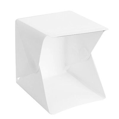 Holeco Product White Box with LED Light for Small Size Items Photo Box Shooting