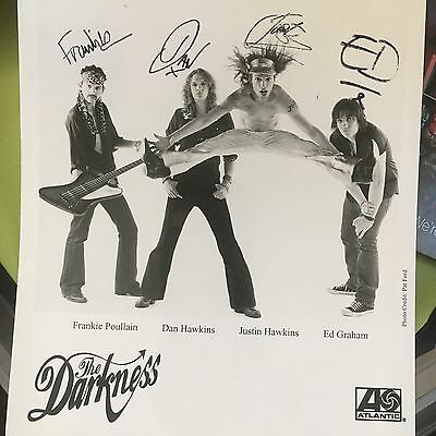 The Darkness Signed 8 X 10 Photo