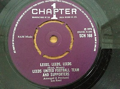 """LEEDS UNITED FOOTBALL TEAM - 1972 UK 1st CHAPTER ONE 7"""" VINYL RECORD - EXCELLENT"""