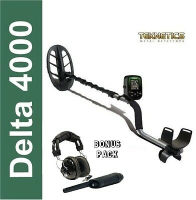 Metal Detector Teknetics Delta 4000 with Plate from 11 DD + Pointer + Headphones