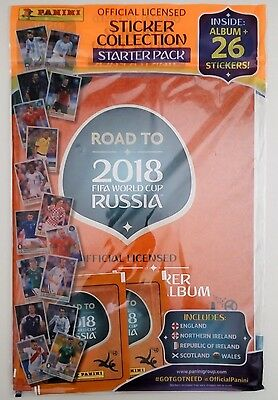 Panini Road to World cup Russia 2018 sticker starter Pack UK Edition
