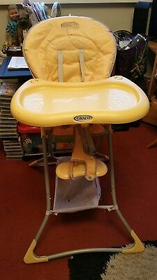 Graco Yellow Child's Highchair With Tray