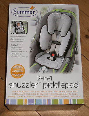 Summer Infant Baby Snuzzler PiddlePad Waterproof car seat buggy liner & support