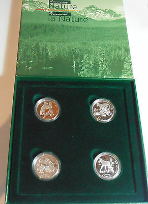 Canada Serie Discovering Nature 4X 50 Cents. Plata. 1996