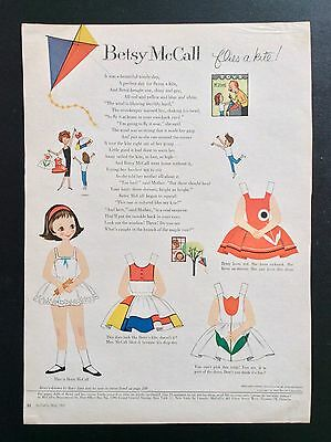 Vintage Betsy McCall Mag. Paper Dolls, Betsy McCall Flies a Kite, May 1959