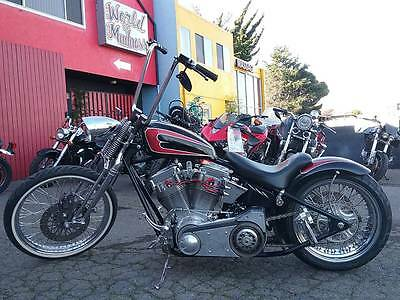 "2015 Custom Built Motorcycles Bobber  2015 Special Construction Custom Bobber / Springer 100"" RevTech Motor"