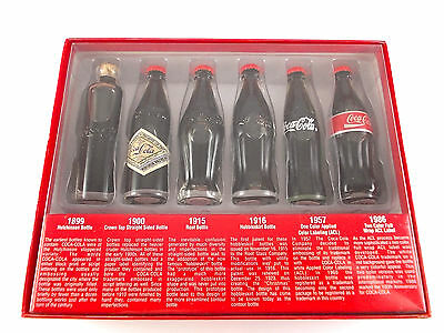 Coca Cola 6 x Flaschen Set 1899 - 1986