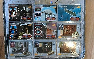 Star Wars Vehicles Topps Trading Card complete base set 72 pack cards 1997