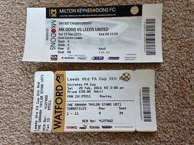2 Leeds United used away tickets