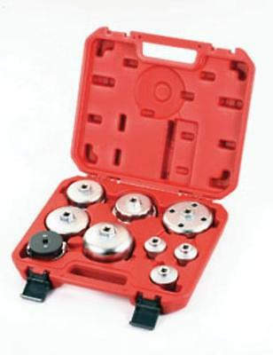 9 Circle 9CL-6126023 9 Pc. Oil Filter Wrench Set
