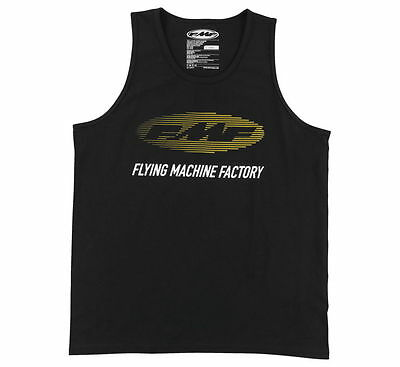 FMF Racing Stacked Tank Black FMF Apparel Logo Tank Top All Sizes