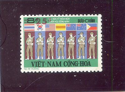 Last stamp in honor of  South VIET NAM's alliess 1975  ( VNCH )  - MNH VF OG